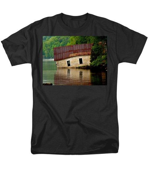 Men's T-Shirt  (Regular Fit) featuring the photograph Vermont Boathouse by John Haldane