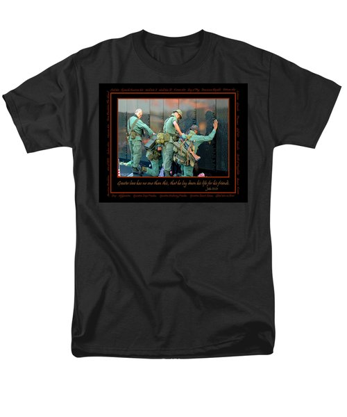 Veterans At Vietnam Wall Men's T-Shirt  (Regular Fit) by Carolyn Marshall