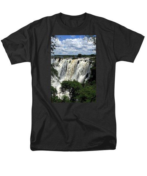 Victoria Falls On The Zambezi River Men's T-Shirt  (Regular Fit)