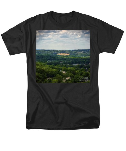 Men's T-Shirt  (Regular Fit) featuring the photograph View From Goat Hill by Debra Fedchin