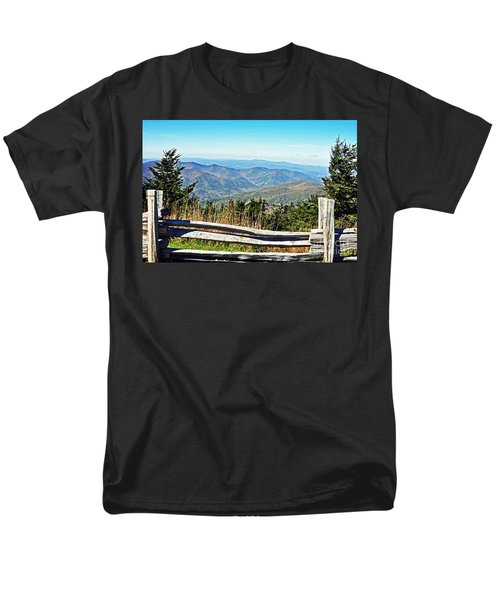 View From Mt. Mitchell Summit Men's T-Shirt  (Regular Fit) by Lydia Holly