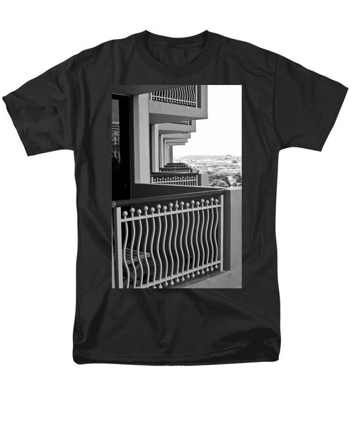 View From The Hotel Balcony Men's T-Shirt  (Regular Fit) by Wayne King