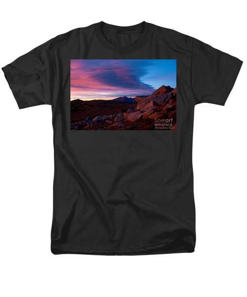 View To Long's Peak Men's T-Shirt  (Regular Fit) by Steven Reed