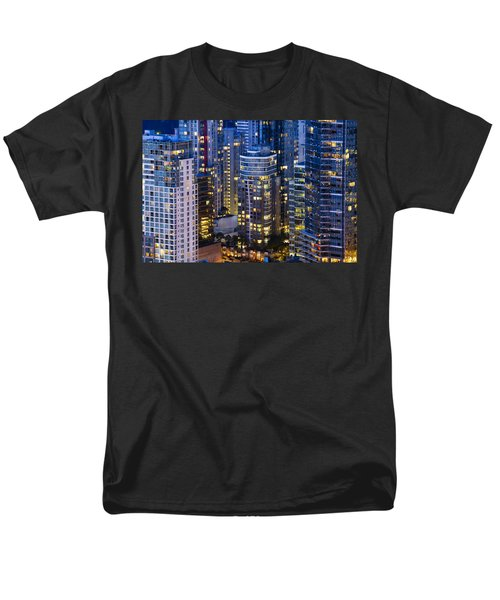 Men's T-Shirt  (Regular Fit) featuring the photograph View Towards Coal Harbor Vancouver Mdxxvii  by Amyn Nasser