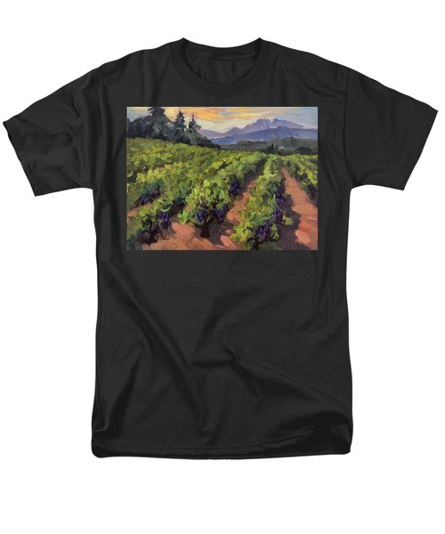 Vineyard At Dentelles Men's T-Shirt  (Regular Fit) by Diane McClary