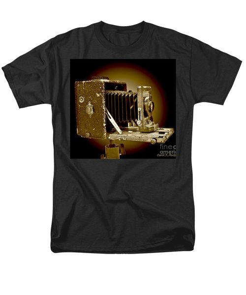 Vintage Camera In Sepia Tones Men's T-Shirt  (Regular Fit) by Carol F Austin