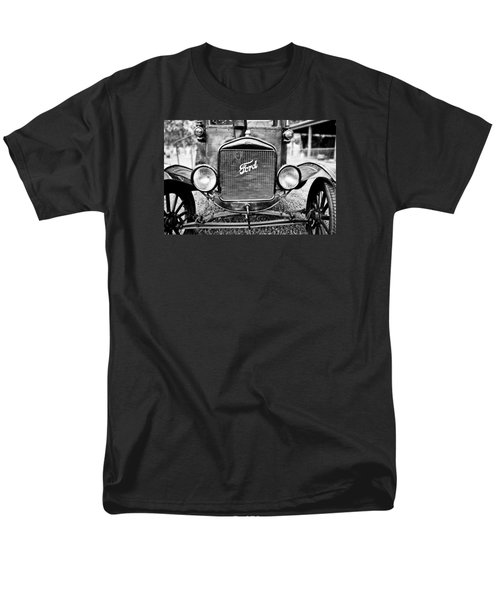 Vintage Ford In Black And White Men's T-Shirt  (Regular Fit) by Colleen Kammerer