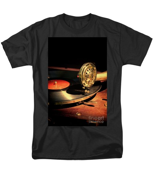 Vintage Record Player Men's T-Shirt  (Regular Fit) by Jill Battaglia