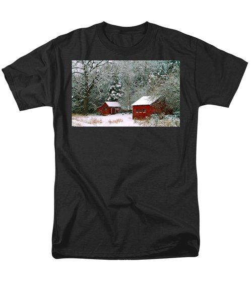 Vintage Winter Barn  Men's T-Shirt  (Regular Fit) by Peggy Franz