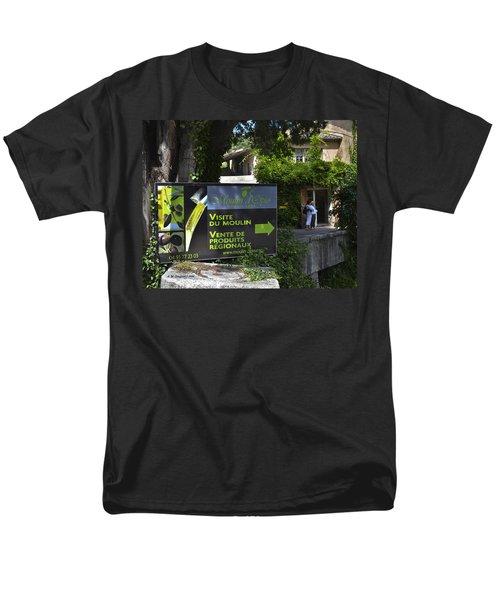 Men's T-Shirt  (Regular Fit) featuring the photograph Visite Du Moulin by Allen Sheffield