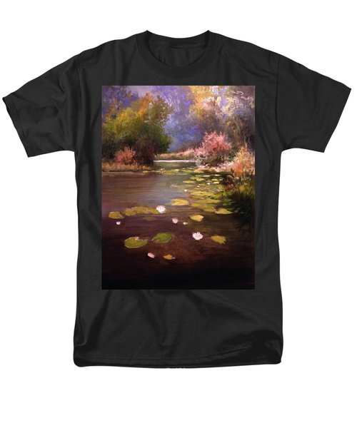 Men's T-Shirt  (Regular Fit) featuring the painting Voronezh River by Mikhail Savchenko
