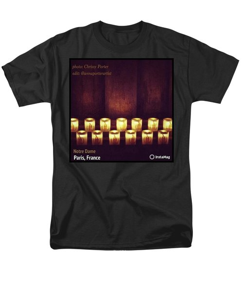 Votive Candles - Notre Dame Cathedral Men's T-Shirt  (Regular Fit) by Anna Porter
