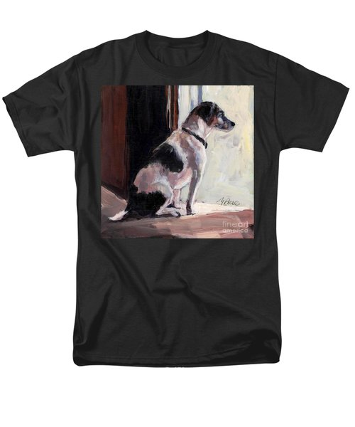 Men's T-Shirt  (Regular Fit) featuring the painting Wait And See by Molly Poole