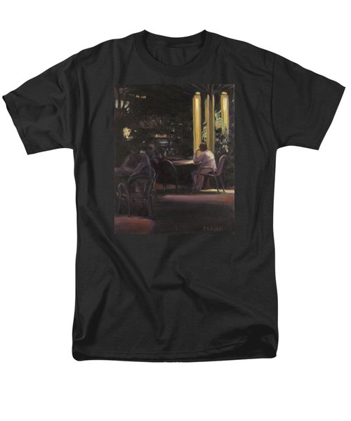 Waiting At The Night Cafe Men's T-Shirt  (Regular Fit) by Connie Schaertl