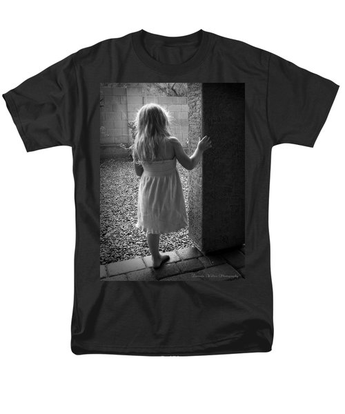 Men's T-Shirt  (Regular Fit) featuring the photograph Waiting For The Rain To End  by Lucinda Walter
