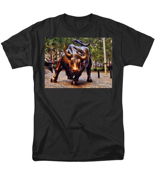 Wall Street Bull Men's T-Shirt  (Regular Fit) by David Smith