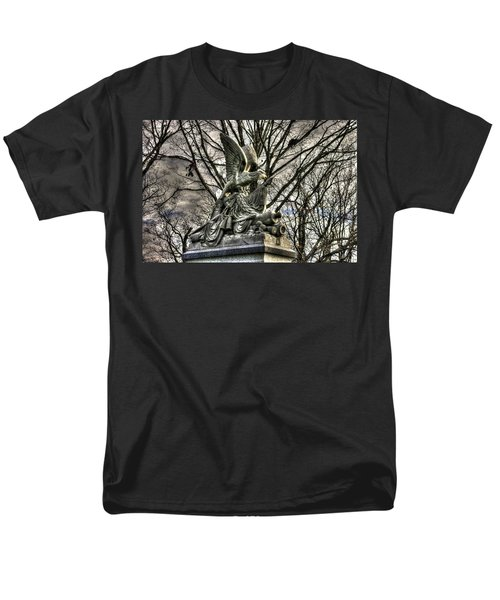 Men's T-Shirt  (Regular Fit) featuring the photograph War Eagles - 88th Pa Volunteer Infantry Cameron Light Guard-d1 Oak Hill Autumn Gettysburg by Michael Mazaika