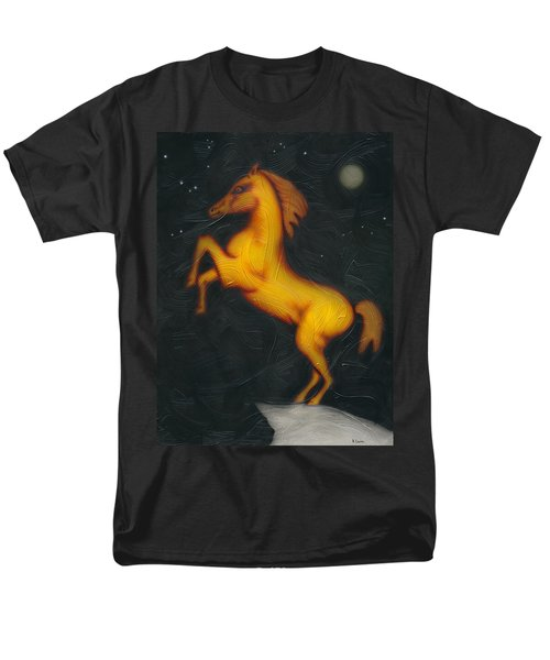 Men's T-Shirt  (Regular Fit) featuring the painting War Horse. by Kenneth Clarke