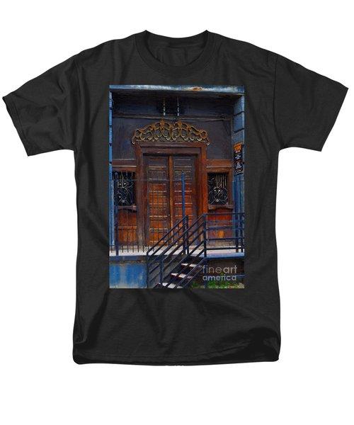 Warning Do Not Enter - Oil Painting Men's T-Shirt  (Regular Fit) by Liane Wright