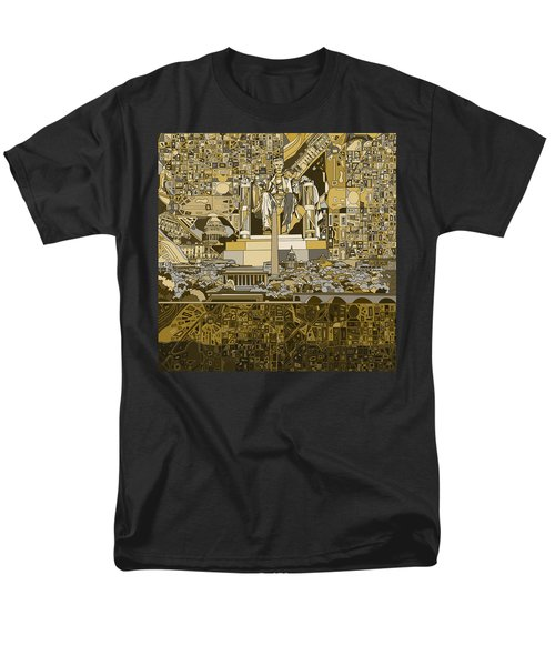 Washington Dc Skyline Abstract 4 Men's T-Shirt  (Regular Fit)