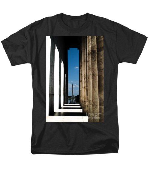 Men's T-Shirt  (Regular Fit) featuring the photograph Washington Monument Color by Angela DeFrias