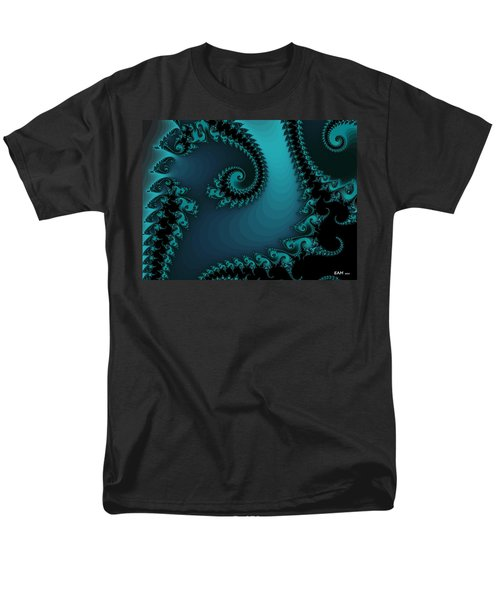 Men's T-Shirt  (Regular Fit) featuring the digital art Watchers On The Chalcedony Slide by Elizabeth McTaggart