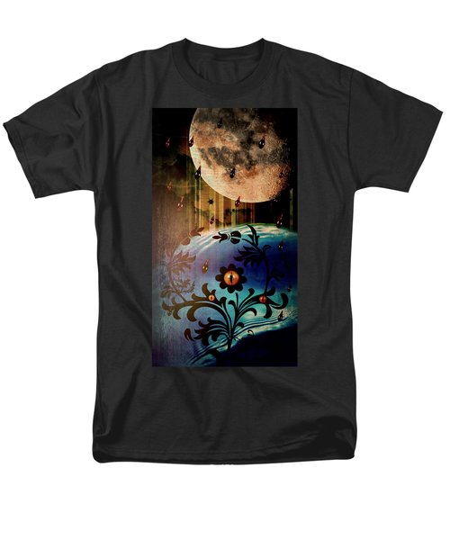 Men's T-Shirt  (Regular Fit) featuring the mixed media Watching by Ally  White