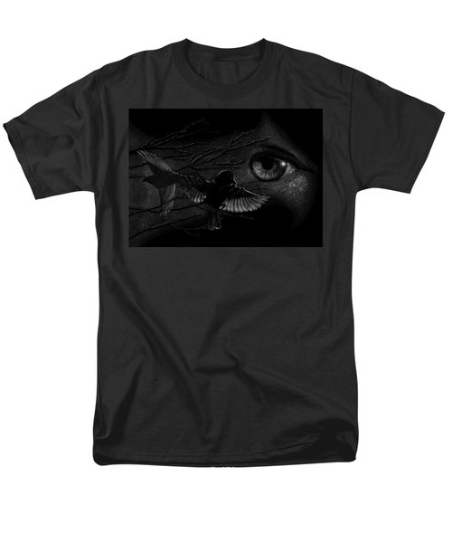 Watching Over Sparrows Men's T-Shirt  (Regular Fit) by Sandra LaFaut