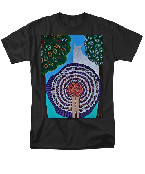 Men's T-Shirt  (Regular Fit) featuring the painting Watching The Show by Barbara St Jean