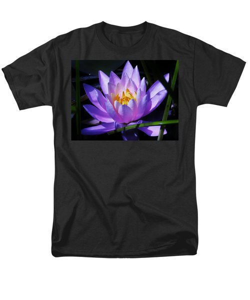 Water Lily Blues Men's T-Shirt  (Regular Fit) by Sherman Perry