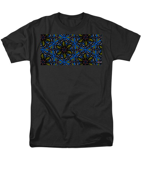 Men's T-Shirt  (Regular Fit) featuring the digital art Water Plant And Dragonfly by Elizabeth McTaggart