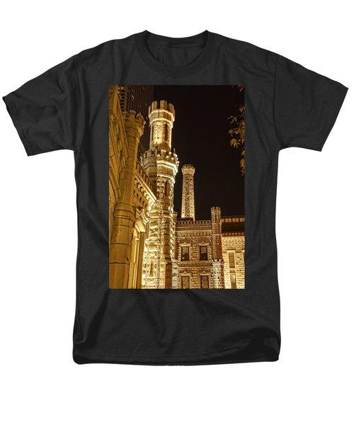 Water Tower At Night Men's T-Shirt  (Regular Fit) by Daniel Sheldon