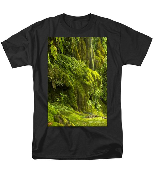 Men's T-Shirt  (Regular Fit) featuring the photograph Waterfall In Green by Bryan Keil