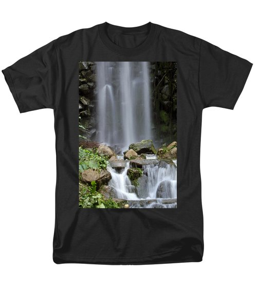Men's T-Shirt  (Regular Fit) featuring the photograph Waterfall In Singapore by Shoal Hollingsworth