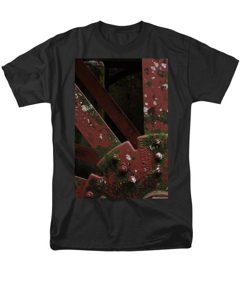Men's T-Shirt  (Regular Fit) featuring the photograph Waterwheel Up Close by Daniel Reed