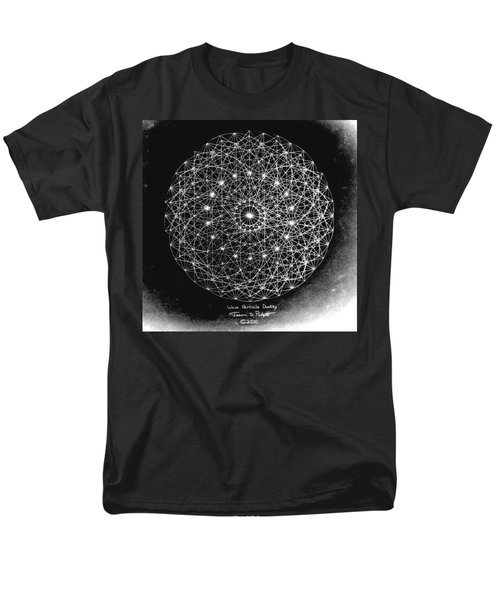 Men's T-Shirt  (Regular Fit) featuring the drawing Wave Particle Duality Black White by Jason Padgett