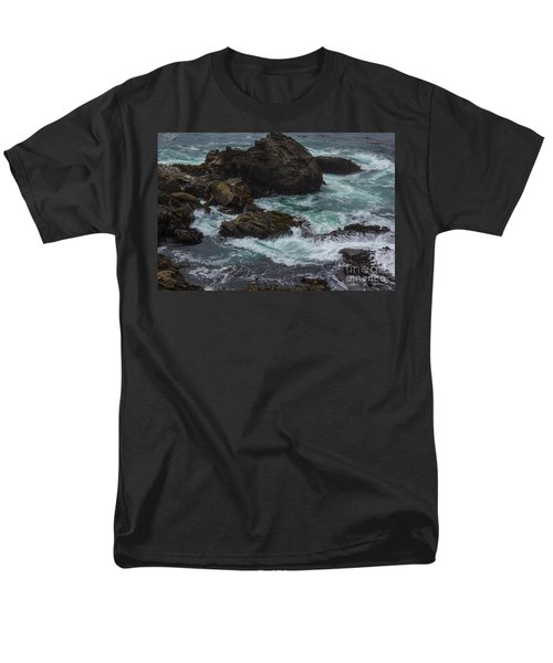 Waves Meet Rock Men's T-Shirt  (Regular Fit) by Suzanne Luft