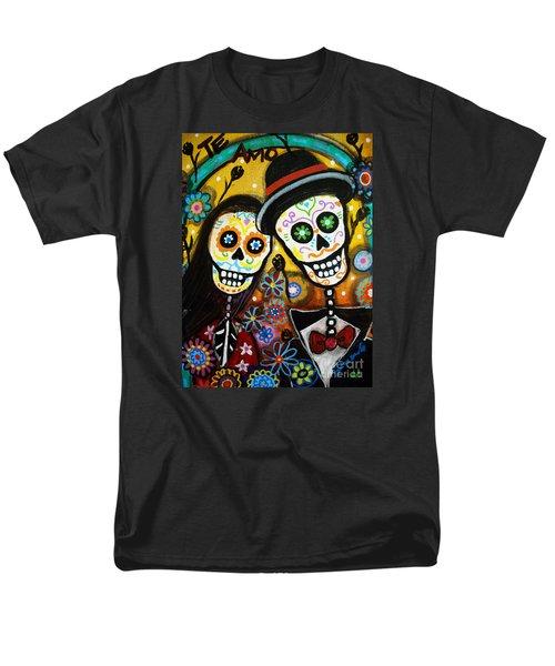 Men's T-Shirt  (Regular Fit) featuring the painting Wedding Dia De Los Muertos by Pristine Cartera Turkus