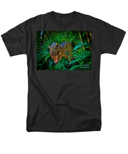 Welcome To My Park Tyrannosaurus Rex Men's T-Shirt  (Regular Fit) by Olga Hamilton