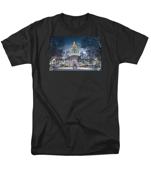 West Virginia State Capitol Men's T-Shirt  (Regular Fit) by Mary Almond