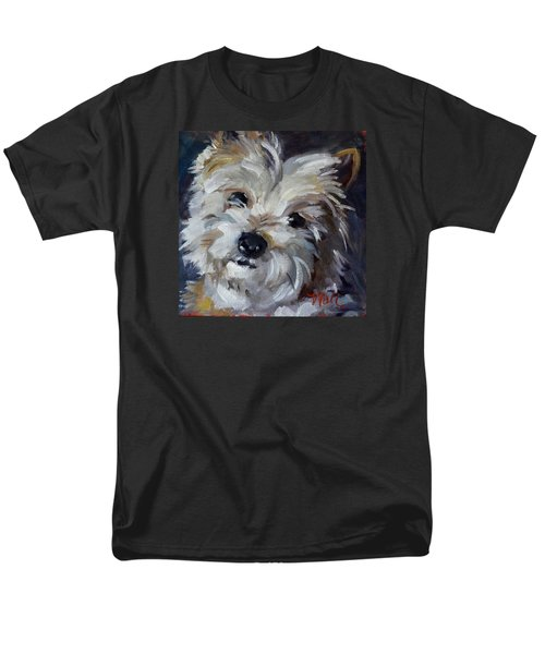 Men's T-Shirt  (Regular Fit) featuring the painting Westie Mix by Pattie Wall