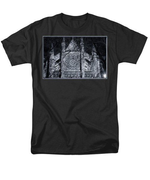 Westminster Abbey North Transept Men's T-Shirt  (Regular Fit) by Joan Carroll