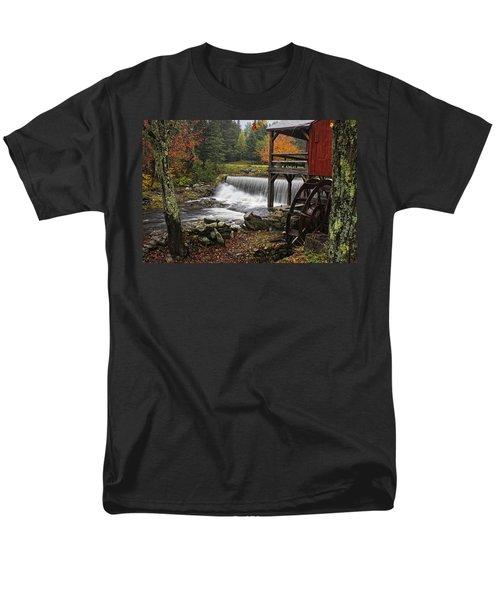 Weston Grist Mill Men's T-Shirt  (Regular Fit) by Priscilla Burgers