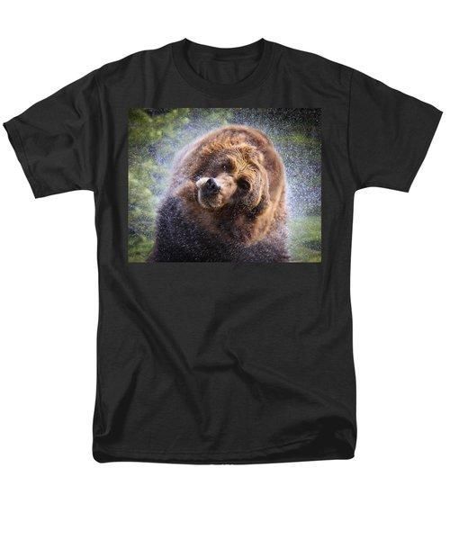 Men's T-Shirt  (Regular Fit) featuring the photograph Wet Griz by Steve McKinzie