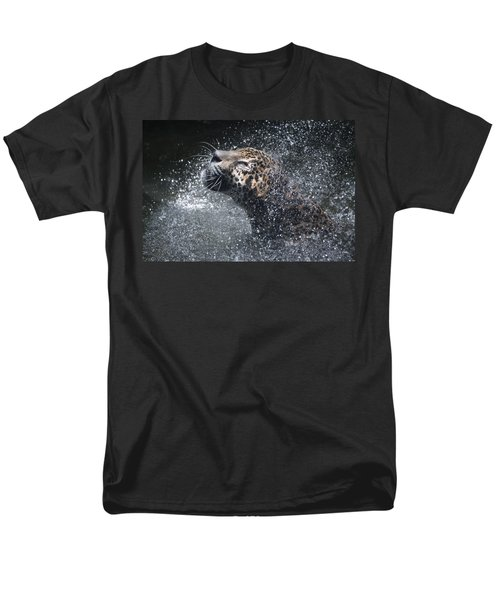 Men's T-Shirt  (Regular Fit) featuring the pyrography Wet Jaguar  by Shoal Hollingsworth