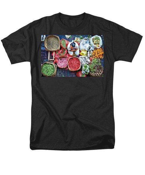 Wet Market In Ubud Men's T-Shirt  (Regular Fit) by Yew Kwang