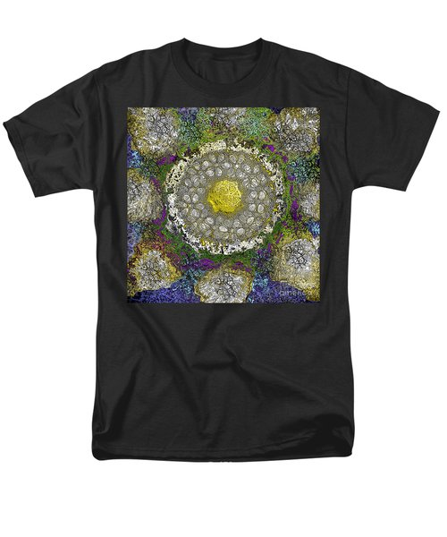 Men's T-Shirt  (Regular Fit) featuring the digital art What Kind Of Sun IIi by Carol Jacobs