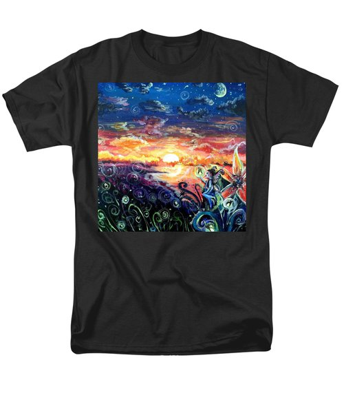Men's T-Shirt  (Regular Fit) featuring the painting Where The Fairies Play by Shana Rowe Jackson