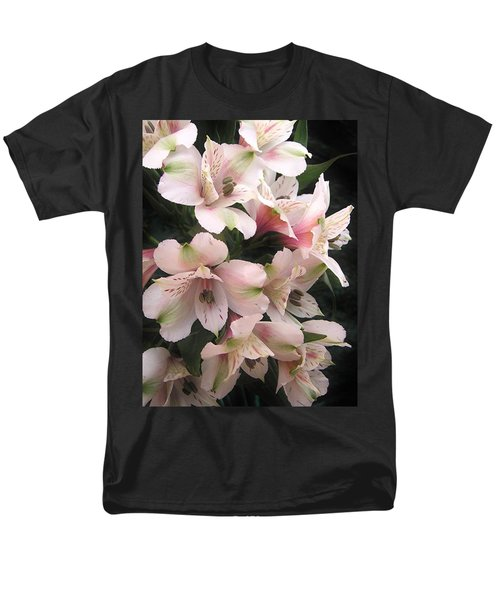 Men's T-Shirt  (Regular Fit) featuring the photograph White And Pink Peruvian Lilies by Diane Alexander
