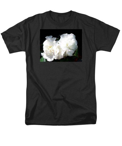 White Begonia  Men's T-Shirt  (Regular Fit)